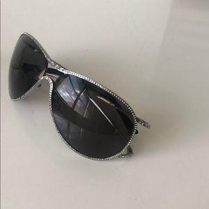 Valentino sunglasses aviator with svaworski around